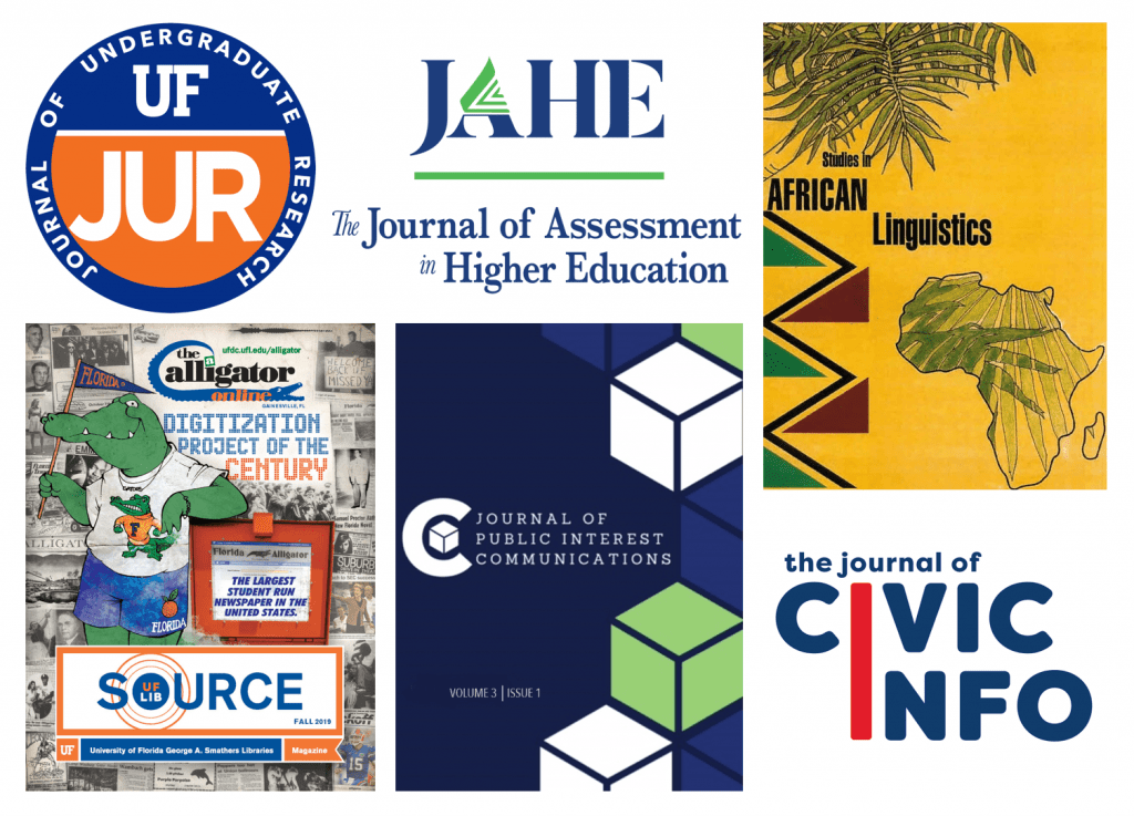 Collage of Florida OJ journal covers